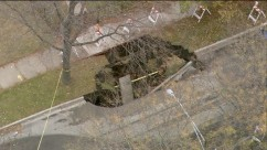 Huge Sinkhole on Chicago's Southside