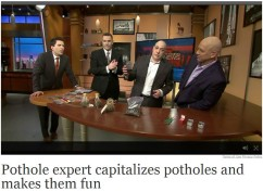 Chicago Man Selling Potholes in Chicago